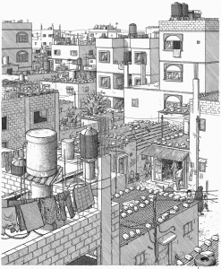 Sacco-Footnotes-in-Gaza-city-scene